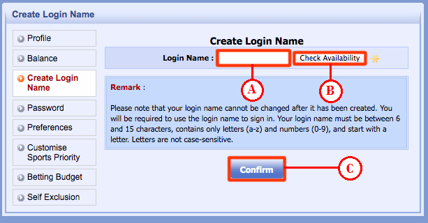 Create Login Name